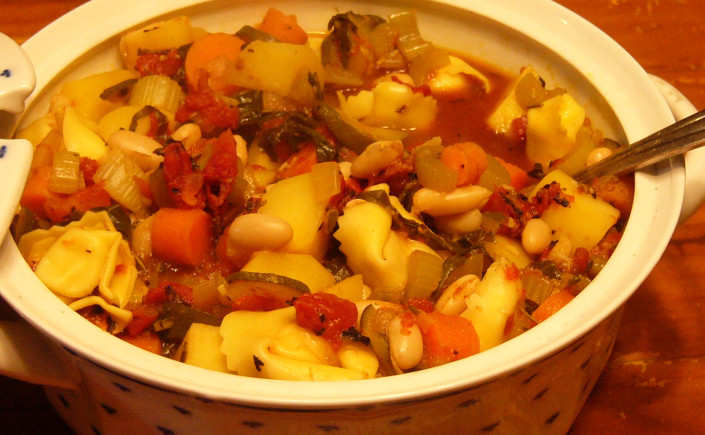 Autumn Minestrone with Tortellini Pasta