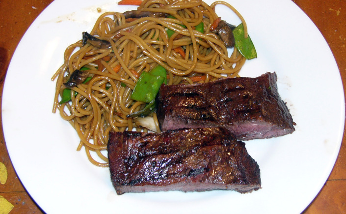 Asian Marinated Flat Iron Steak