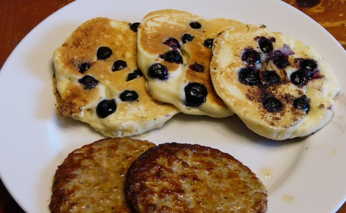 Blueberry Pancakes from Scratch and Communing with Nature