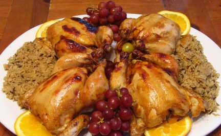 chicken-kahlua-game-hens-with-wild-rice