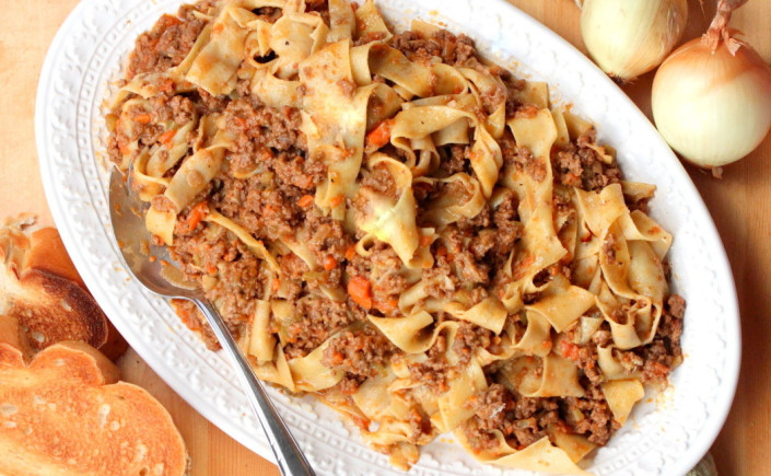 Classic Ragù Bolognese with Beef, Veal andPancetta