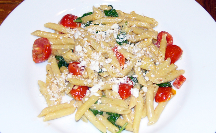 Roasted Red Pepper, Artichoke and TomatoPasta