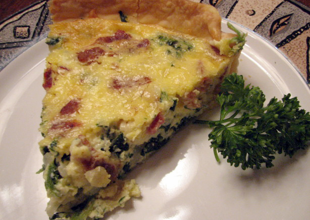 Anne's Awesome Bacon-SpinachQuiche