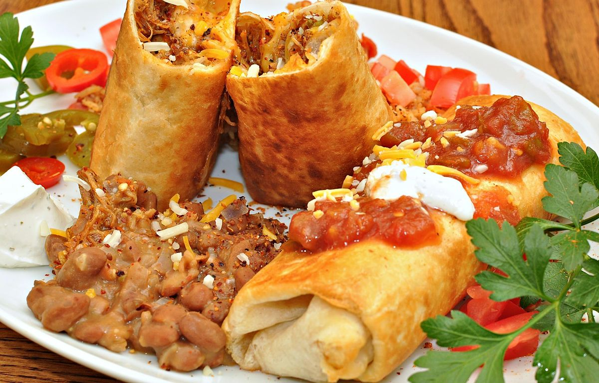 Almost Famous Chimichangas honey, we're not in kansas anymore – beefy chimichangas