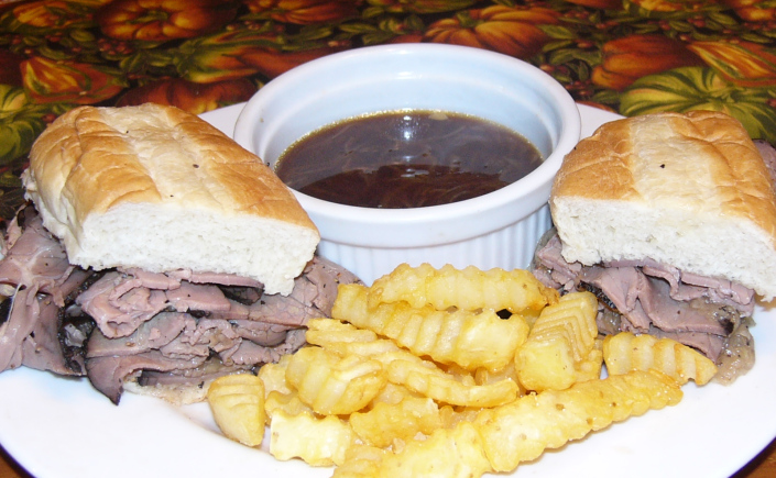 French Dip Sandwiches with AuJus