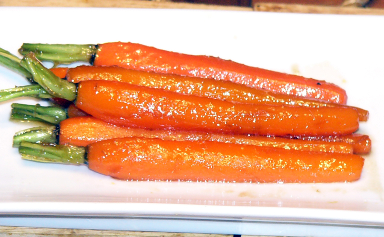 Browned-Butter Brown Sugar Glazed Carrots with a Kiss ofKahlua