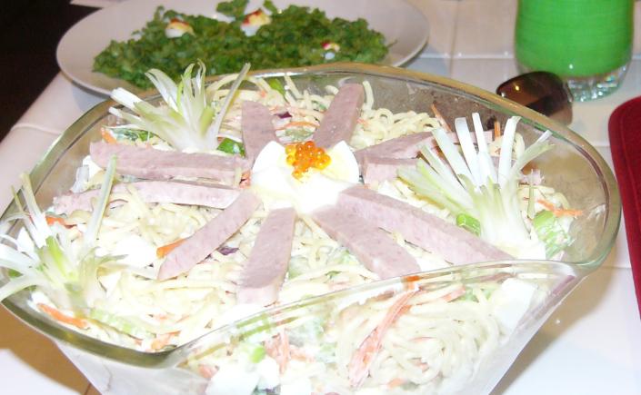 Hawaiian Macaroni Salad withSpam