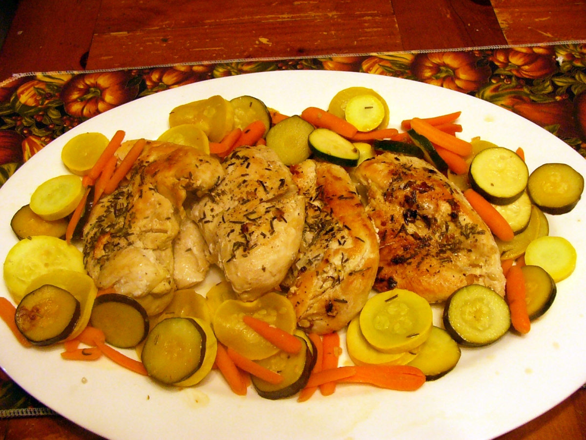 Rosemary Lemon Chicken with Assorted Vegetables