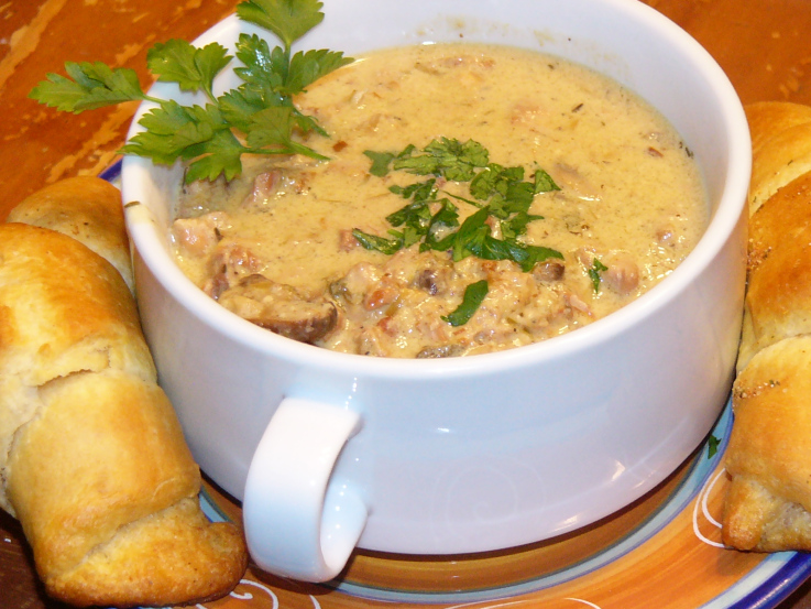 Smoked Bacon and Chicken CreamSoup