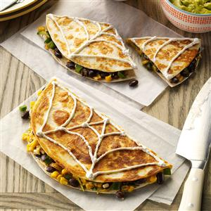 Halloween Confetti Corn Quesadillas