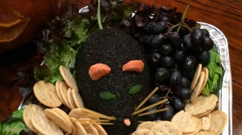 Halloween Dead Man's Cheese ball