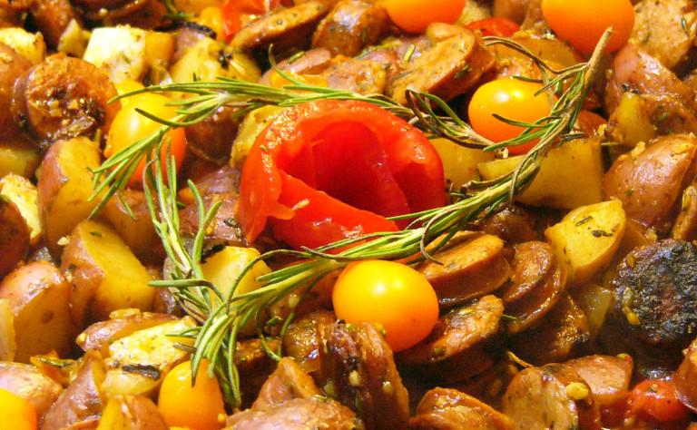 Italian Chicken Sausage and Potato SkilletSupper