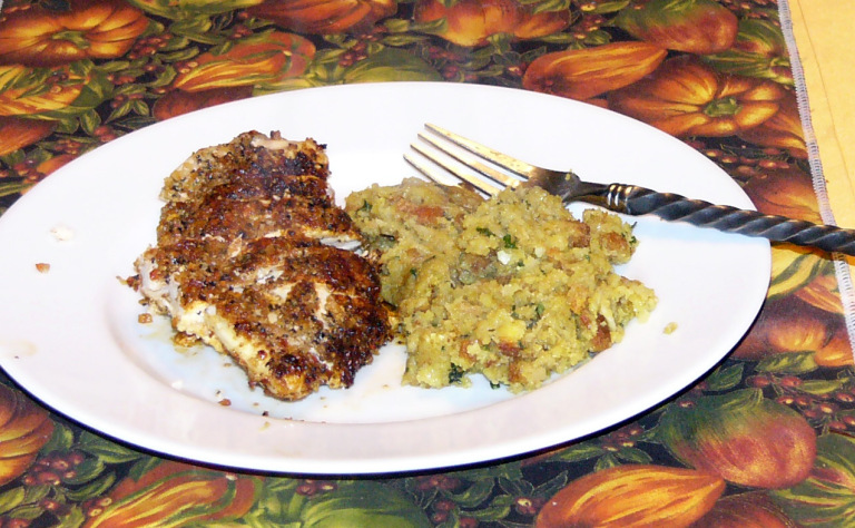 Seasoned Chicken Breast with Stove Top Stuffing and No Green InSight