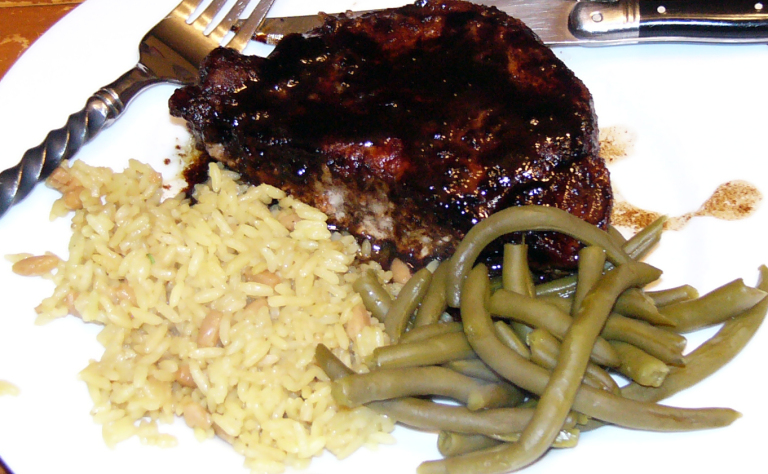 Lightening Quick Balsamic Dijon Pork Chops