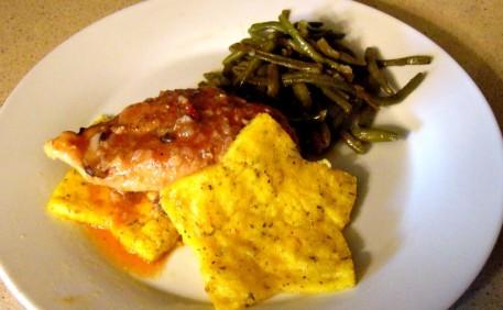 chicken-chicken-marengo-with-polenta-stars-and-steamed-green-beans