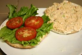 Chicken Salad Sandwich on Sandwich Thins (1)