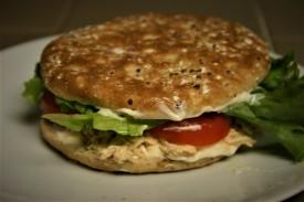 Chicken Salad Sandwich on Sandwich Thins (2)