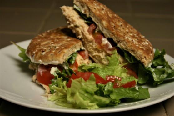 Chicken Salad Sandwich on Sandwich Thins (3)