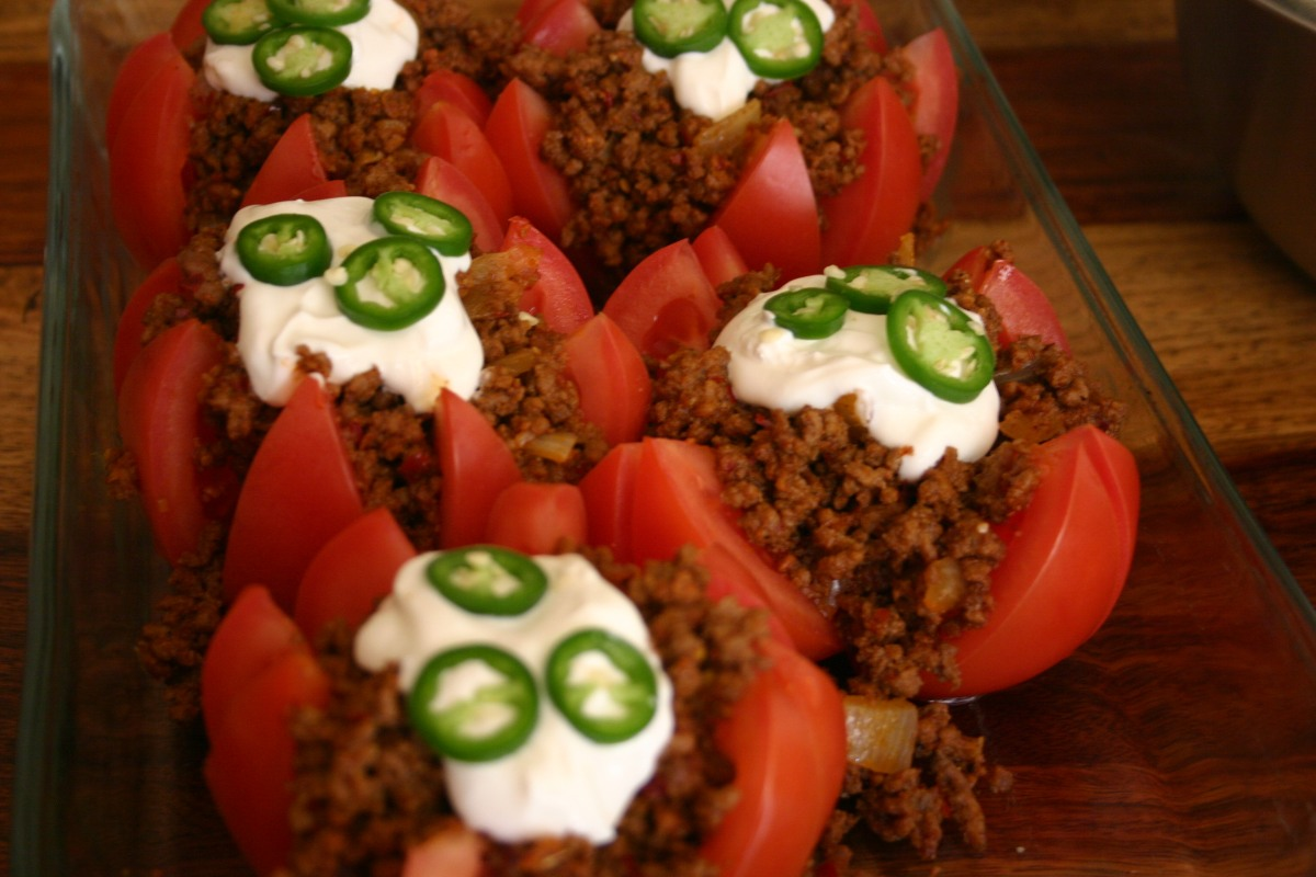 Mexican Taco StuffedTomatoes