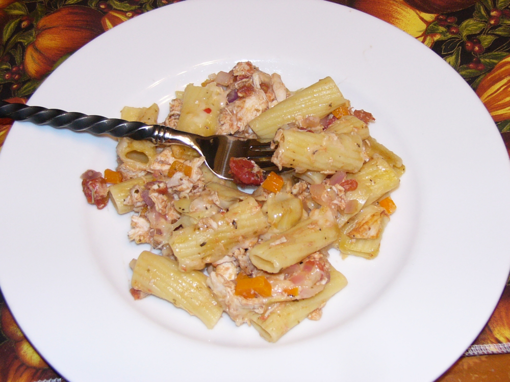 Rigatoni and Chicken Bake with Artichokes