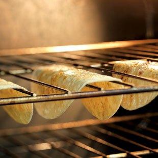 Taco Shells Baking