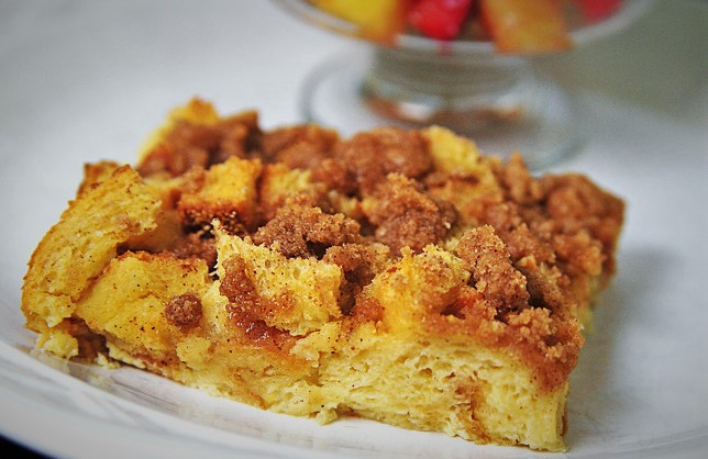 Baked French Toast with Streusel Topping and BeingBrave