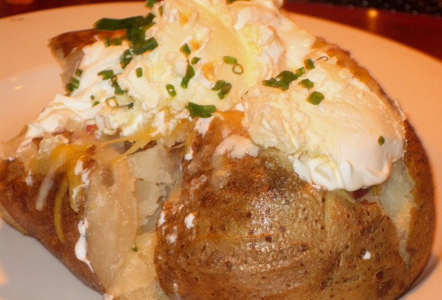 Old Fashioned Baked Potato with theWorks