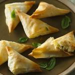 Basil & Feta Cheese Triangles