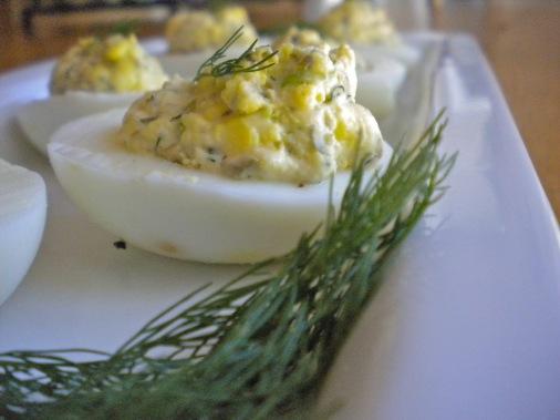 caper 2 deviled eggs