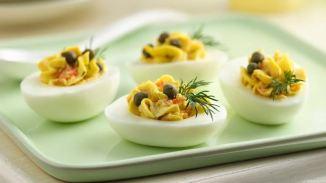Caper Deviled Eggs