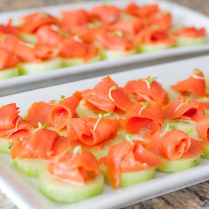Cucumber Rounds Smoked Salmon