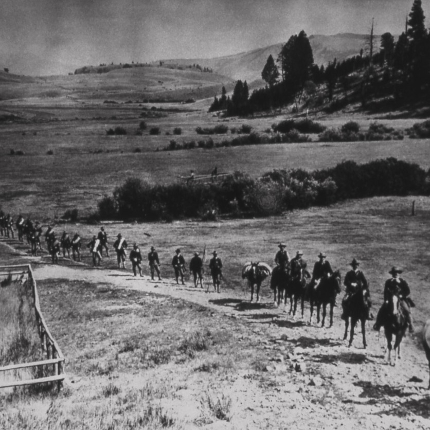 Line of Cavalry in Lamar Valley; Photographer unknown; No date
