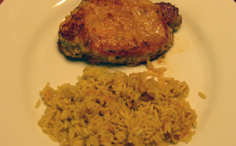 italian-breaded-pork-chops-rice-pilaf