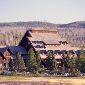 Old Faithful Inn exterior; Jim Peaco; July 2003