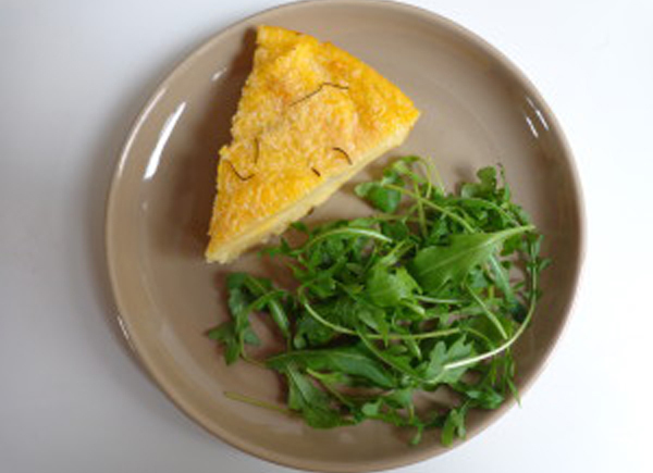 Baked Polenta with Parmesan andRosemary
