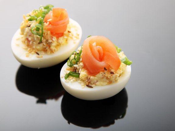 Salmon Deviled Eggs
