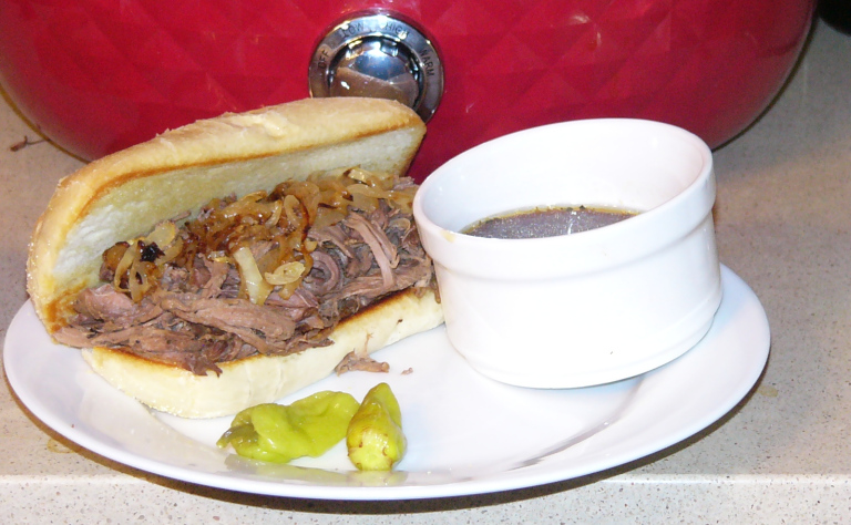 French Dip Italian Roast Beef Sandwiches