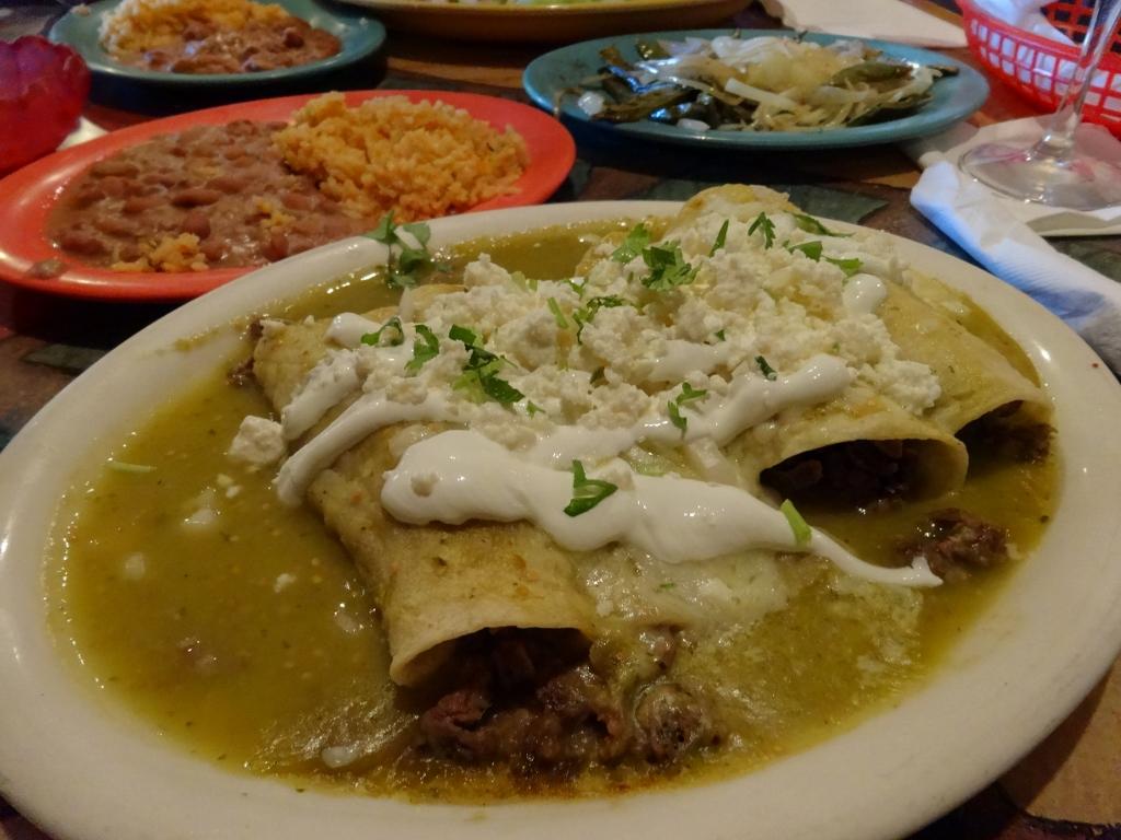 Beef Enchiladas With Cilantro CreamSauce