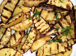 garlic grilled potatoes