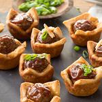 Mini Barbecue Meatball Cups