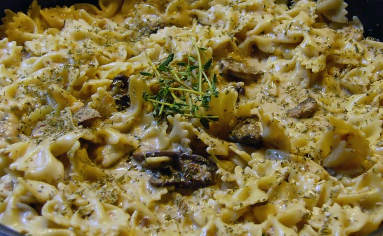 Butterfly Pasta with Sauteed Mushrooms – A work inProgress