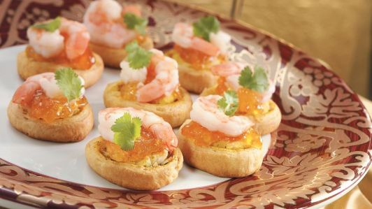 Spicy Shrimp & Apricot Crescent Bites