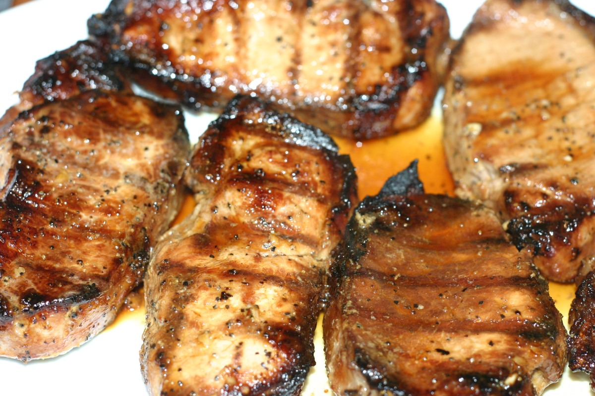 Asian Inspired Marinated Grilled PorkChops