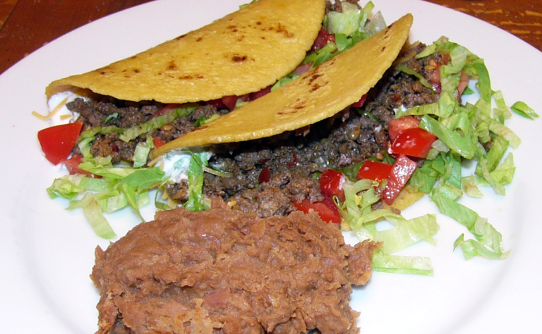 Spicy Beef and ChorizoTacos