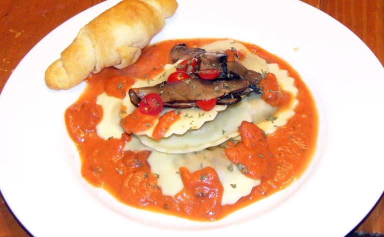 Portobella Mushroom Ravioli