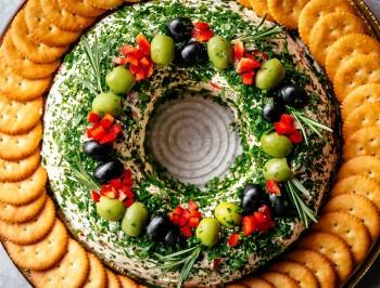 Cheese Spread Wreath 2