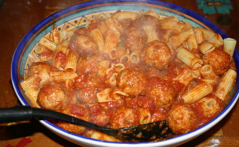 No Muss, No Fuss Rigatoni with Meatballs