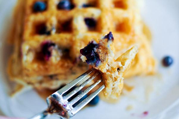 Weekends and Buttermilk BlueberryWaffles