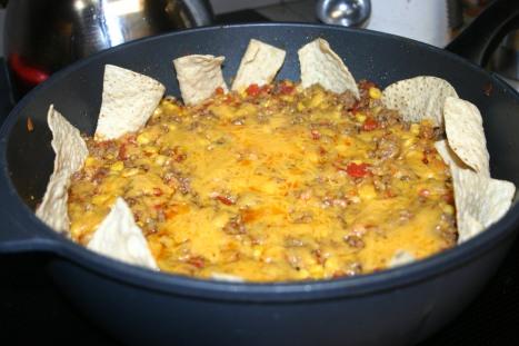 beefy spanich rice nacho skillet (7)