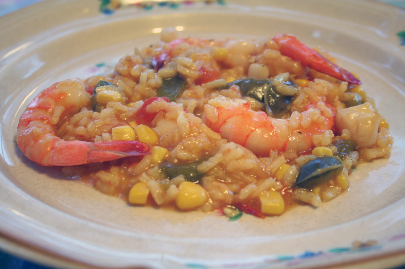 Cajun Seafood PaellaRisotto